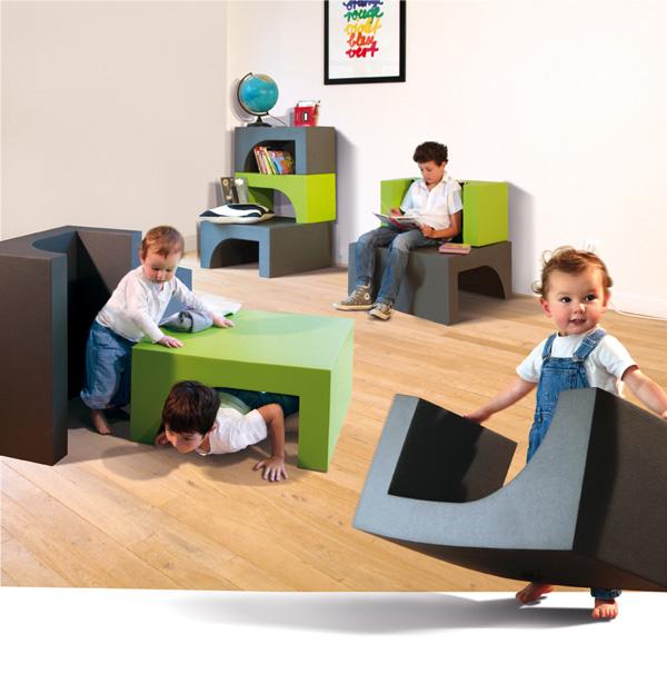 HIRO meuble modulaire en mousse pour enfants